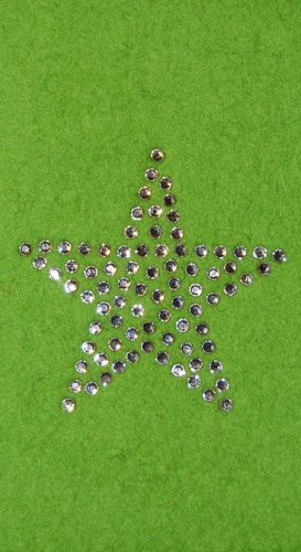 Krings Fashion® Étui en feutre pour Samsung Galaxy S4Mini et iPhone 5C, feutre couleur citron vert, avec étoile en cristaux Swarovski®–QUALITÉ en Allemagne