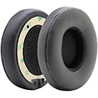 Poyatu Replacement Ear Cushions Earpads Earbuds for Beats Solo 2 Wireless Ear pads (Black)
