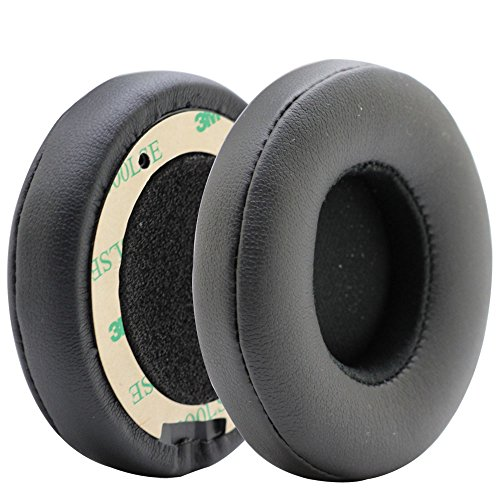 Poyatu Replacement Ear Cushions Earpads Earbuds for Beats Solo 2 Solo3 Wireless Ear Pads (Black)