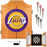 NBA Los Angeles Lakers Wood Dart Cabinet Set