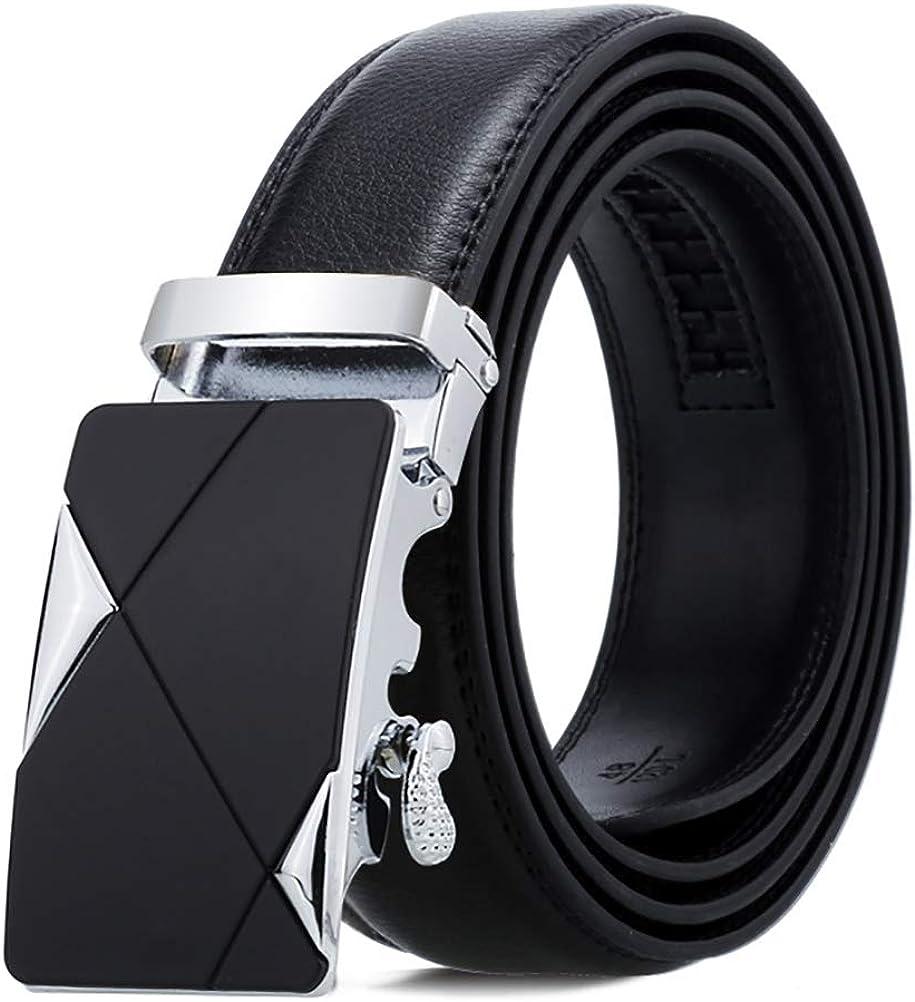 ViewHuge Mens Leather Ratchet Belt,Adjustable Click Belt for Men