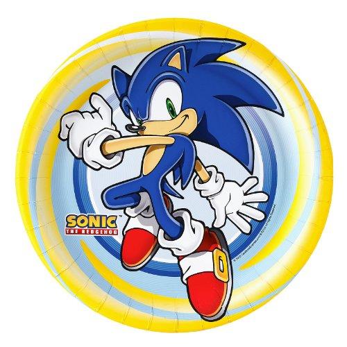 BirthdayExpress Sonic The Hedgehog Dinner Plates -