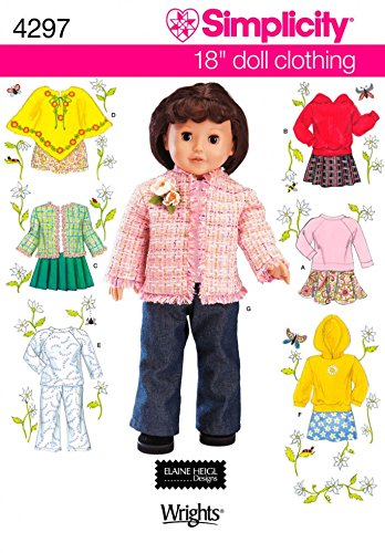 Simplicity Clothing Doll (Simplicity Crafts Sewing Pattern 4297 Doll Clothing)
