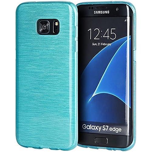 Samsung Galaxy S7 Edge Case - [Aqua Turquoise Teal] Ultra Thin Minimalist (Non-Bulk) Slim Fit Anti-Scratch TPU Sales