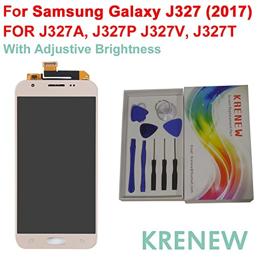 KRENEW Touch Screen Replacement Digitizer Glass LCD & Repair Tools Kit for Samsung Galaxy J3 Prime J327T & Emerge J327P J327V J327A (2017) (Golden) by KRENEW (Image #2)
