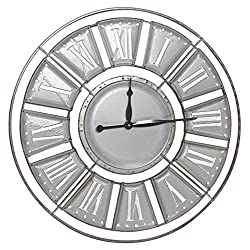 Mayrich 31.5 Vintage Style Roman Numeral Metal Wall Clock