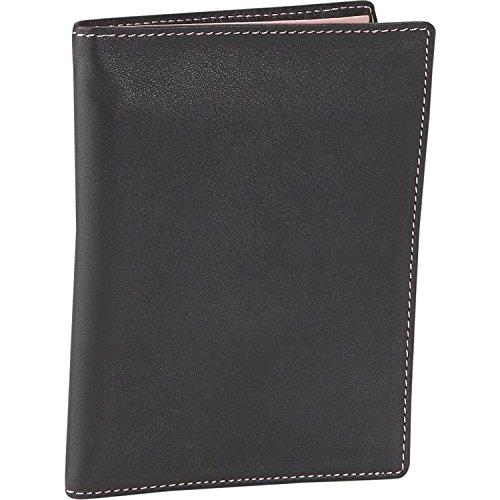 Leather Passport Wallet - Carnation/Black (Carnation/Black) (5.5