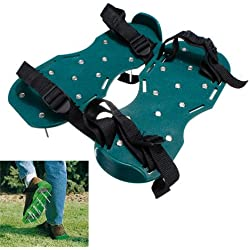 Funnytoday365 Lawn Care Garden Lawn Shoe Aerator Sandals With Spike Spiked Easy To Use Green