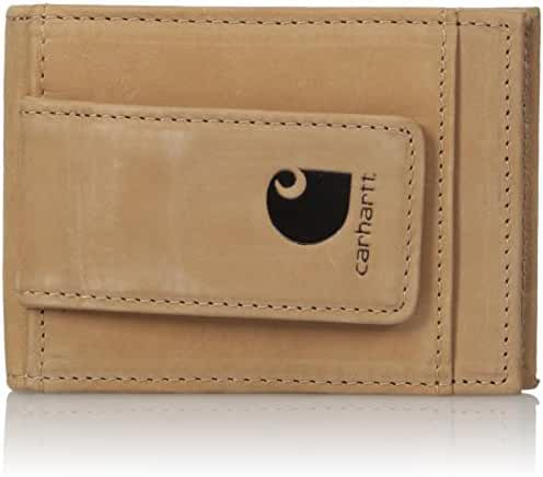 Carhartt Men's Nubuck RFID Blocking Magnetic Card Holder