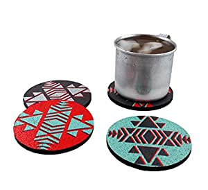 Flox 'Native Americana' Rubber Coasters