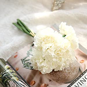 CANAFA-Home & Kitchen Artificial Flowers Artificial Fake Flowers Carnations Floral Wedding Bouquet Bridal Hydrangea B 77