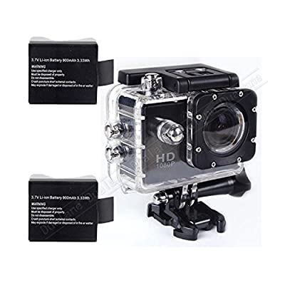 Black Sj4000 12mp 1080p Car Cam Sports Dv Action Waterproof 30m 1.5 Inch Camera by dualane