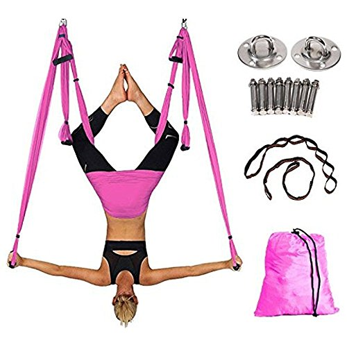 Generic l Yoga Set Installation a Hammo Kit Swing Aerial Yog Aerial Yoga Hammock ck Kit Swin GIFT NEW GIFT NEW Hardware 2Straps traps GIFT NEW