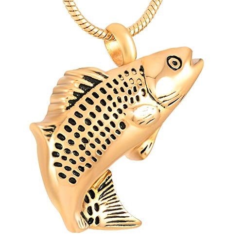 Pink Gold Color Plating Color Fashion Pendant Pet Urn Ashes Holder Men Women Necklace Cremation Jewelry - Davitu XWJ9236 Silver Metal Color: Silver, Main Stone Color: Pendant only Gold