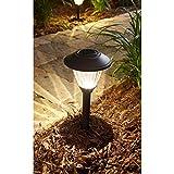 Hampton Bay Textured Black Solar LED Pathway Light Set (8-Pack) Rechargeable ...