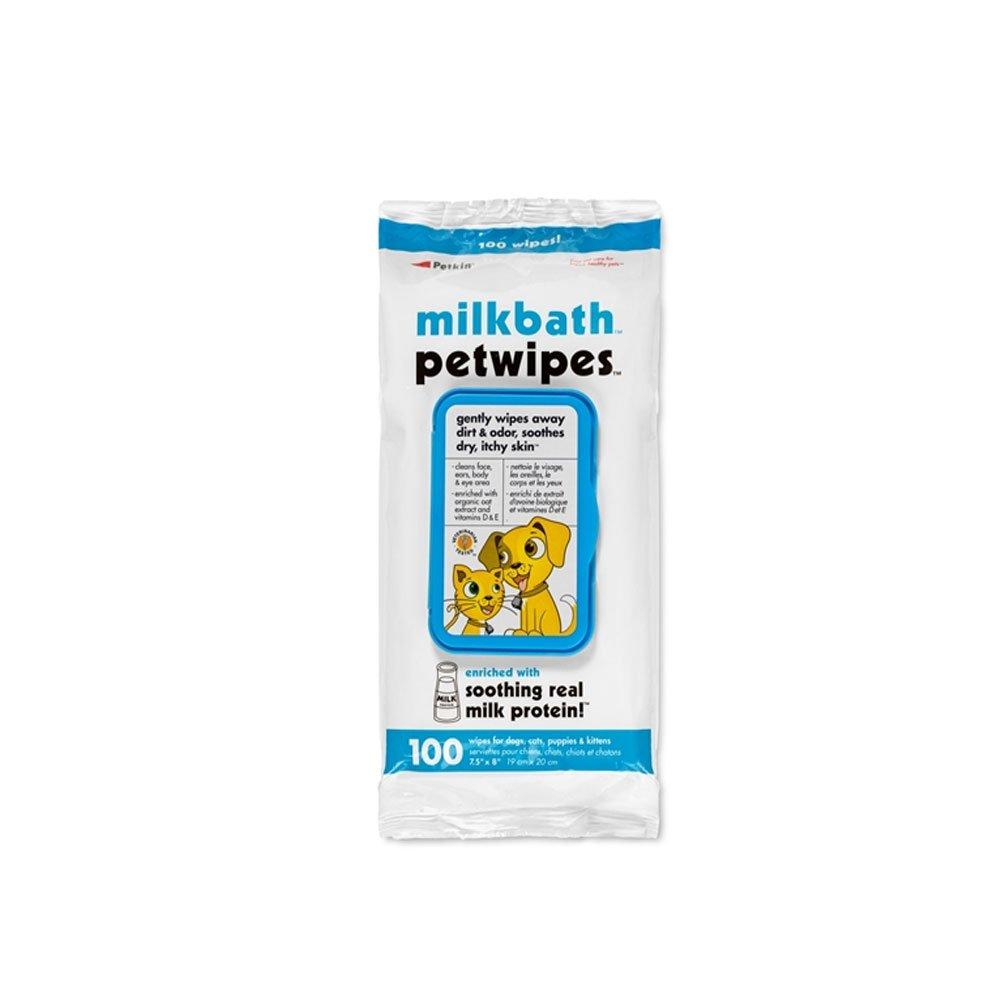 Petkin Milkbath Petwipes - 100 count