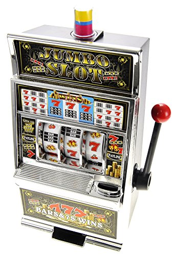 PowerTRC Lucky Sevens Jumbo Slot Machine Replica Piggy Bank Flashing Light and Sound (Bank Jumbo Slot)