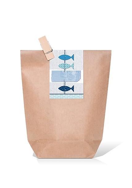 10 bolsas de regalo, marrón pequeños obsequios, bolsas de ...