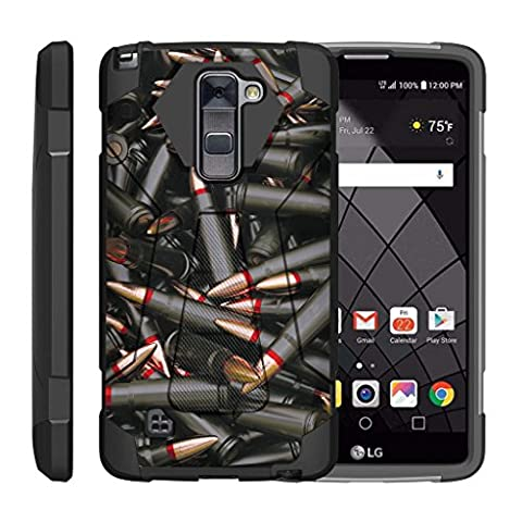 TurtleArmor   LG Stylus 2 Plus Case   LG Stylo 2 Plus Case [Dynamic Shell] Impact Proof Hard Kickstand Hybrid Shock Fitted Silicone Cover Military War Army Camo Design - Black (Lg Dynamic 2 Phone Case Camo)