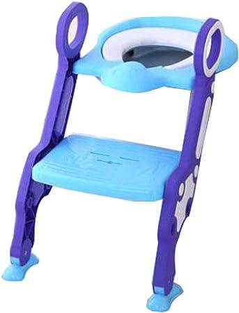 LYLLB-Child toilet Escalera De BañO para NiñOs Inodoro NiñO Orinal Silla De BañO Asiento De Inodoro Plegable con Soporte para Apoyabrazos Adecuado para 1-7 AñOs De Edad: Amazon.es: Hogar