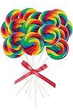 BirthdayExpress Mini Rainbow Spiral Lollipops (16)