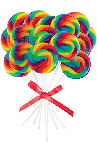 Mini Rainbow Spiral Lollipops 16