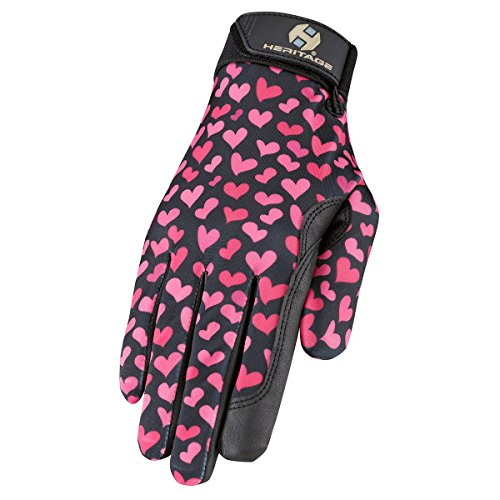 Heritage Performance Gloves, Hearts, 7