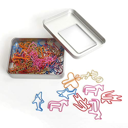 Animal Shaped Paper Clips Bookmark Clips for Bookmark Office School Notebook Funny Desk Accessories Office Supplies(50pcs) by EXPEDER