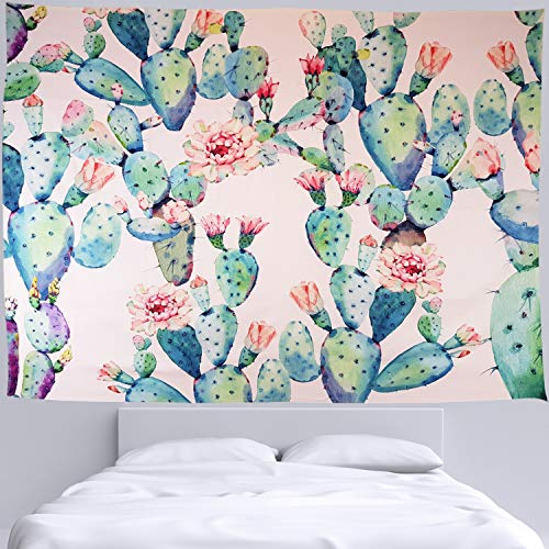 HomeCult Pink Cactus Tapestry Succulent Plant