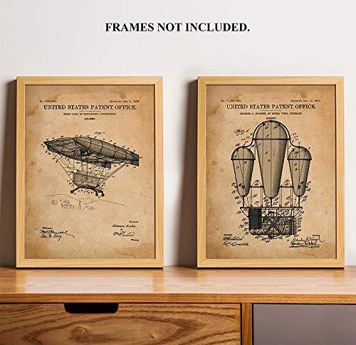 1908 Horse (AirShips - Patent Prints - 1908 & 1911 - Unique - Art Wall Decor - 11 x 14 inch Unframed Art Prints - Makes a Unique Gift)
