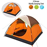 Cheap Makino Outdoor Family Tent for 2 Person Camping, Bright Orange