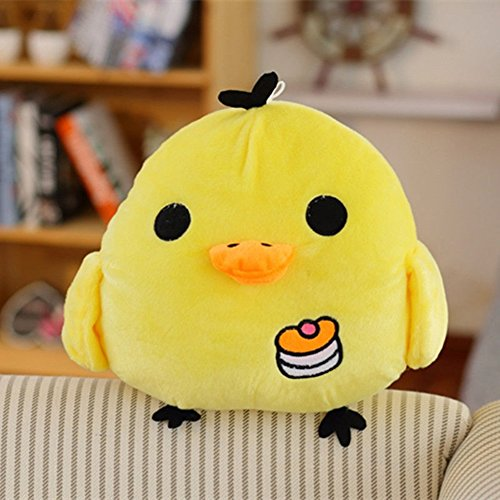elegantstunning Little Yellow Chicken Plush Toy, Cute Plush Toy Pillow, Nostril Chick Doll, Creative Girl Gift 30CM