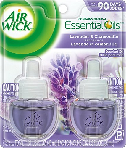 Air Wick Scented Oil Air Freshener, Lavender And Chamomile, 2 Refills, 0.67 Ounce Image