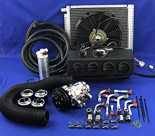 CAR AIR CONDITIONER KIT UNIVERSAL UNDER DASH EVAPORATOR AND AC COMPRESSOR A/C KIT 432 ()
