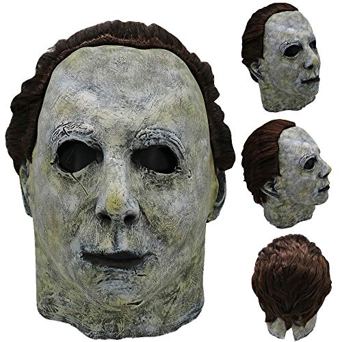Outtop(TM) Womens Mens Cosplay Michael Myers Melting Face Overhead Latex Costume Halloween Prop Scary Mask Toy (One Size, AS Show)