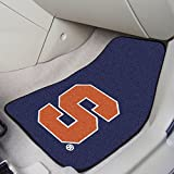 Fan Mats 11287 Syracuse University Orange 17'' x 27'' 2-pc Carpet Car Mat Set