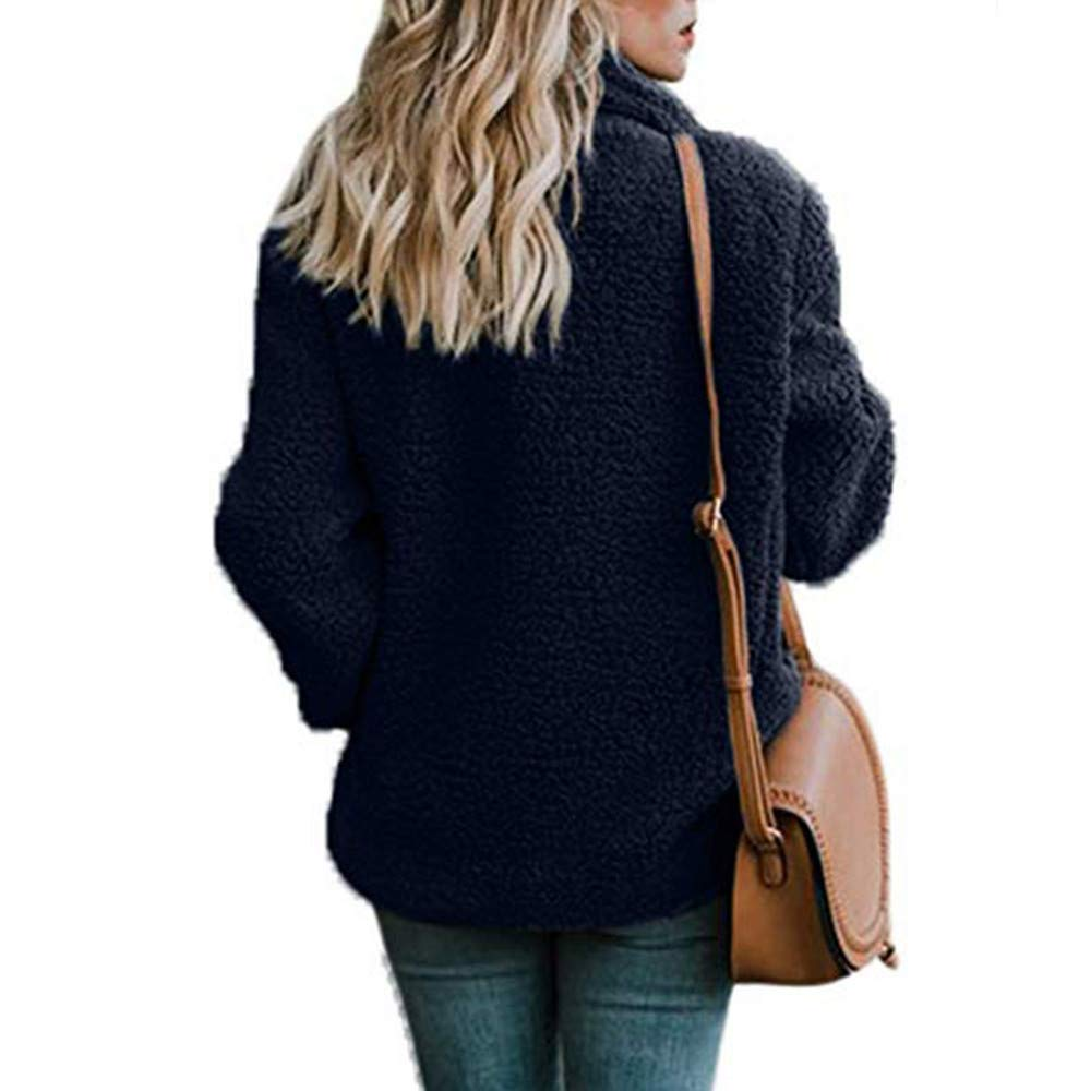 Amazon.com: Besde Womens Winter Casual Parka Jacket Lapel Fleece Open Front Outerwear Coat with Pockets: Home & Kitchen