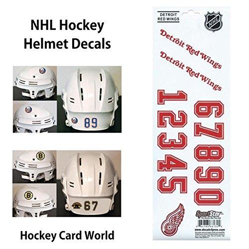 ((HCW) Detroit Red Wings SportsStar NHL Hockey Helmet Decals Sticker)