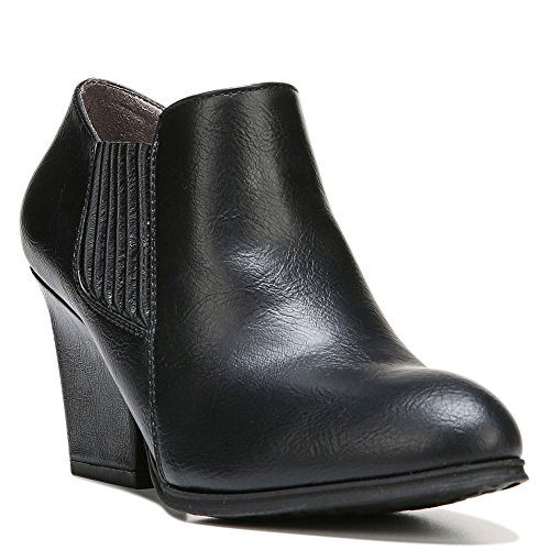 Life Stride Women's Whimzy Ankle Boot,Black Polyurethane,US 9 (Black Polyurethane Ankle Boot)