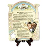 BANBERRY DESIGNS Remembrance Plaque Pet Memorial With Rainbow Bridge Poem And Picture Frame