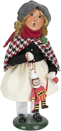 Byers Choice Girl Holding Toy Caroler Figurine from The Specialty Characters Collection 4840G
