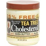 Hollywood Beauty Tea Tree Cholesterol with Shea Butter & Aloe, 20 Ounce