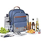 Sunflora Insulated Picnic Backpack for 2 Person Bag