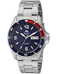 Orient Mens Mako II Japanese Automatic Stainless Steel Casual Watch, Color:Silver-Toned (Model: FAA02009D9)