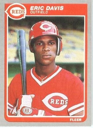 Amazoncom 1985 Fleer Baseball Card 533 Eric Davis Mint