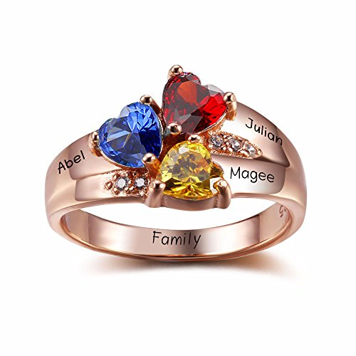 (Lam Hub Fong Personalized Mothers Rings with 3 Simulate Birthstones Rings for Mothers Day BFF Best Friend Rings for 3 (10))