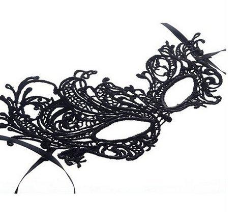 Halloween V/énitien Femme Couleur Noire Macram/é Inception Pro Infinite Masque Carnaval
