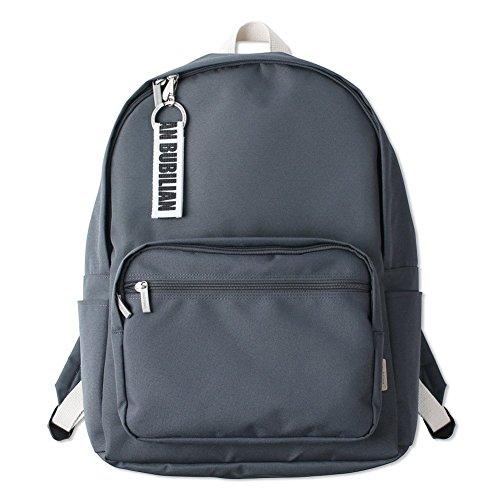 Bubilian BTBB Backpack/Korean Street Brand/School Bag/Travel Bag (Beige) Dark Gray