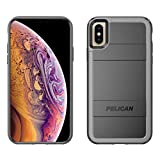 Pelican Protector+AMS iPhone XS Case (Also fits iPhone X) - Black/Light Grey