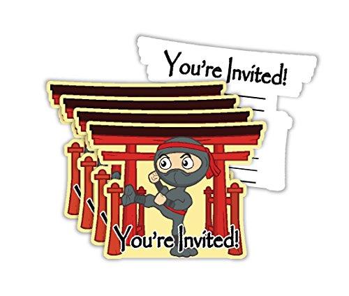 Ninja Warrior Birthday Party Invitations & Envelopes Value Pack (20 (Invitation For Birthday Party)